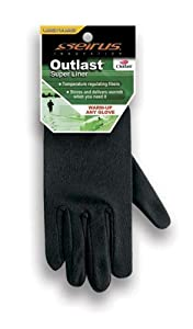 Seirus Innovation Outlast Super Liner Glove Liner, Black, Small/Medium