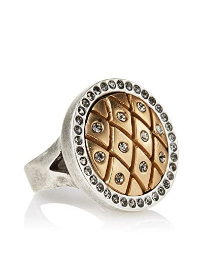 Tat2 Designs Vintage Silver Dome Fishnet Ring