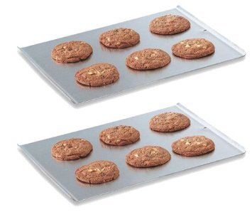 "Vollrath 68085 Natural Finish Aluminum 17-7/8"" X 14"" Cookie Sheet - 2 Pack"