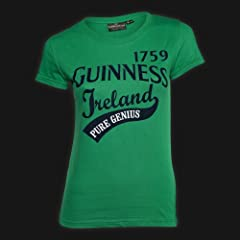 Guinness Green Pure Genius Ladies Tee