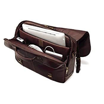 Samsonite Colombian Leather Flap-Over Laptop Case 2