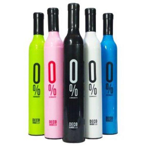 ワインボトル傘 DECO UMBRELLA  アンブレラ0% 折りたたみ傘 (ブラック)
