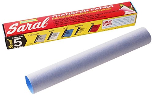 BLUE SARAL WAX-FREE Transfer (Tracing) Paper For Precision Tracing on any Surface-12 inches x 12 foot roll-for reverse work on dark background (Wax Tracing Paper compare prices)