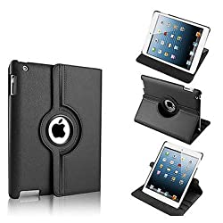 RKA 360 Rotating PU Leather Stand Case Cover For Apple ipad Air 5th Gen New Black