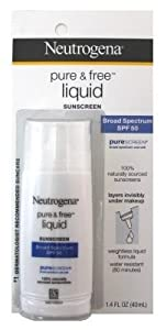 Neutrogena Pure & Free Liquid Daily Sunblock SPF 50 1.40 oz