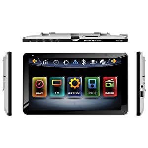 "Soundstream VR-623B 6.2"" Touchscreen High Resolution TFT LCD Car CD DVD MP3 Receiver w Built-in Bluetooth V3.0 Hands Free Calls Audio Streaming USB AUX SD Card Inputs LED RGB Colors AM/FM Radio Stereo"