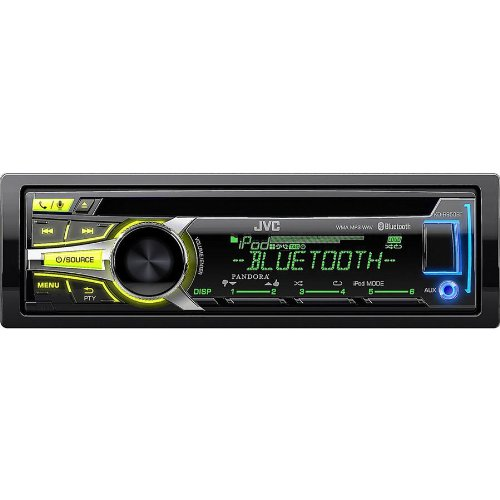 Jvc Single-Din Cd/Am/Fm/Usb Bluetooth Car Stereo Receiver W/ Detachable Face Plate, Pandora And Iheart Radio, Remote Control