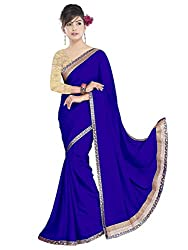 Sonani Women's Georgette Disigner Paety Wear Sarees with Blouse Piece ()