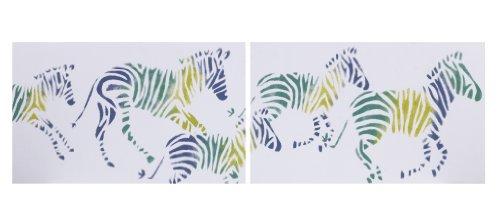 Cotton Tale Designs Wall Art, Zebra Romp, 2 Count