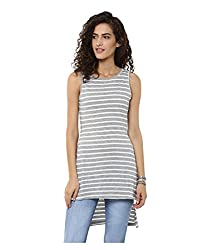 Yepme Women's Grey Cotton Tops/Blouses - YPWTOPS1122_XS