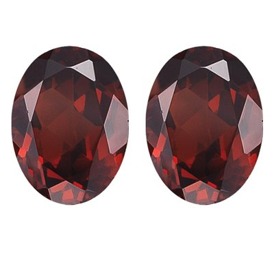 6.04 Cts of 10x8 mm Oval Matching Loose Garnet (2 pcs set) Gemstones