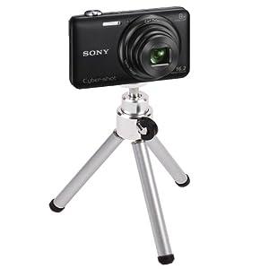 DURAGADGET Portable Lightweight Aluminium Tripod with Sturdy Collapsible Legs for Sony Cybershot WX200, Cybershot DSC-W730, Alpha 7S & Sony H200 Digital Cameras