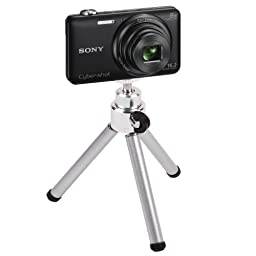 DURAGADGET Portable Lightweight Aluminium Tripod with Sturdy Collapsible Legs for Sony Cybershot WX200, Cybershot DSC-W730, Alpha 7S & Sony H200 Digital Cameras