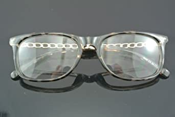 Designer Eyeglass Frames For Big Heads : Amazon.com: Women Leopard Eyeglasses korean hipster half ...