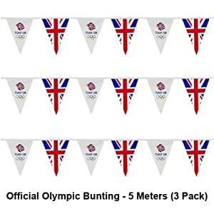 PACK OF 3 x London 2012 Olympics {Team GB} Triangle Bunting