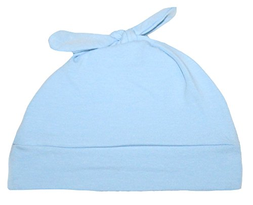 Woombie Cotton Double Knot Beanie Hats, Dream On Blue Heathered, 0-6m - 1