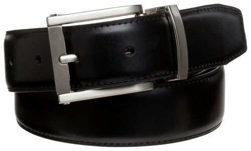 Alexander Julian Men'S 32Mm Reversible Leather Belt.,Black/Brown,34