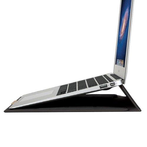 【日本正規代理店品】BEFiNE 新しいMacBook 12インチ/MacBook Air 11インチ対応 スタンドケース ブラック BF4555