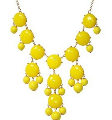 WIIPU yellow big Bubble Necklace,Statement Necklace, Bubble Jewelry