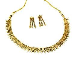 Satyam Jewellery Nx Traditional Pearl Necklace Chain Women Jewellery (Wedding Season)