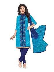 RK Fashion Womens Cotton Un-Stitched Salwar Suit Dupatta Material ( RAJGURU-PAHELI-9268-Blue-Free Size )