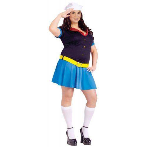 Ms. Popeye Costume - Plus Size 1X/2X - Dress Size 16-20