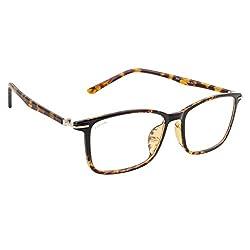 Cocaine 9057-1_0416 Tortise Brown Clear Frame Wayfarer Eyeglasses