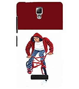PrintDhaba Bicycle Boy D-2652 Back Case Cover for LENOVO A2010 (Multi-Coloured)