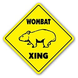 WOMBAT CROSSING Sticker novelty gift animals Australian marsupials Australia funny from Vinyl USA