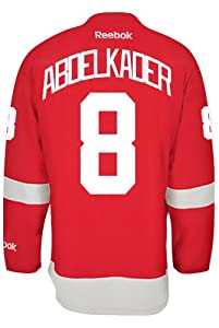 Buy Detroit Red Wings Justin ABDELKADER #8 Official Home Reebok NHL Hockey Jersey (SEWN TACKLE TWILL... by Reebok