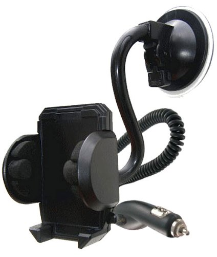 Modern-Tech HTC Legend In-Car Suction Mount/ Holder and Charger