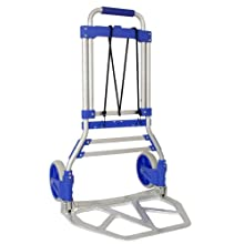 "RWM Casters FW-90 Aluminum Hand Truck with Loop Handle, Blue, 275 lbs Load Capacity, 42-1/2"" Height, 19"" Width X 13.25"" Depth"