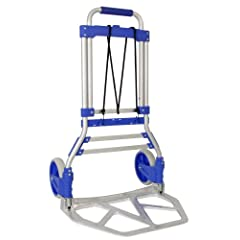 RWM Casters FW-90 Aluminum Hand Truck with Loop Handle Blue 275 lbs Load Capacity 42-1/2 Height 19 Width X 13.25 Depth