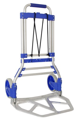 RWM Casters FW-90 Aluminum Hand Truck with Loop Handle, Blue, 275 lbs Load Capacity, 42-1/2