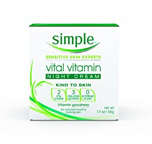 Simple Vital Night Cream, 1.7 Ounce