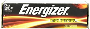 Energizer D Alkaline Industrial Batteries, Box of 12