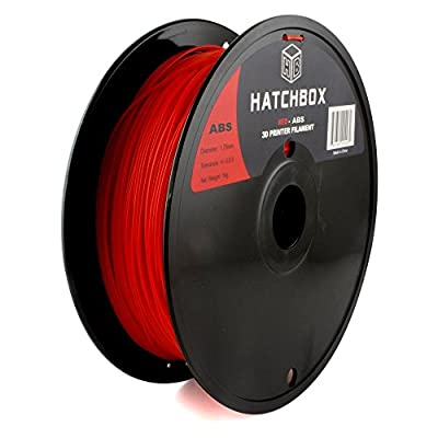 HATCHBOX 1.75mm Red ABS 3D Printer Filament - 1kg Spool (2.2 lbs) - Dimensional Accuracy +/- 0.05mm