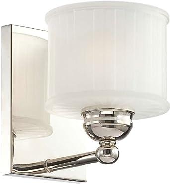 Amazon.com: Minka Lavery 6731-167, 1730 Series Glass Wall Sconce Lighting, 1 Light, 100 Total ...