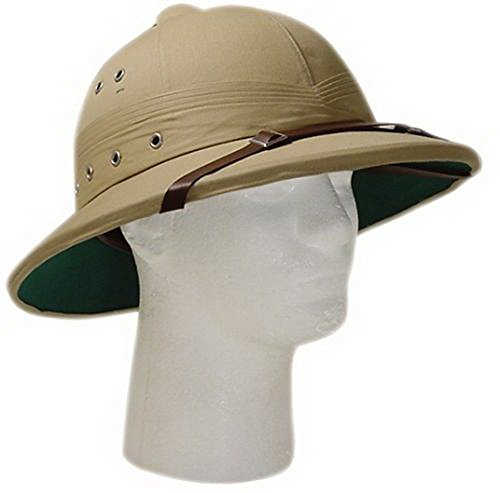 Vintage U.S. Style Pith Safari Jungle Helmet Khaki Tan Deluxe Explorer Hat