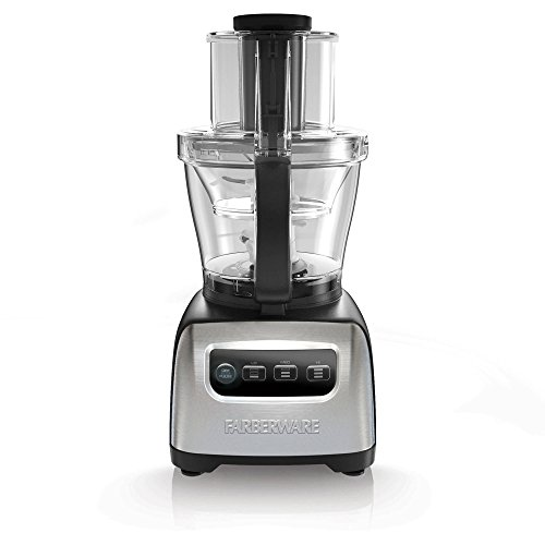 Farberware FP3200FBS 11 Cup Digital Stainless Steel Food Blender Chopper Processor, Silver