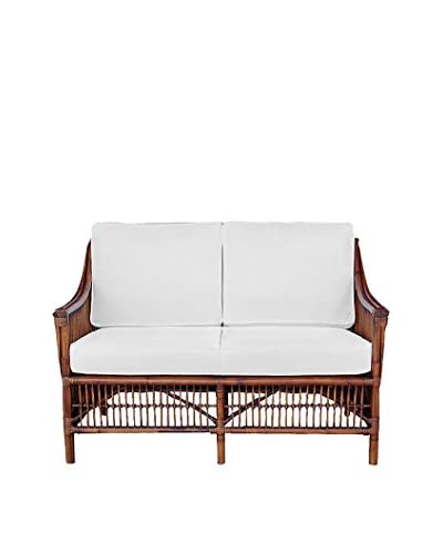 Panama Jack Bora Bora Loveseat With Cushions, Antique