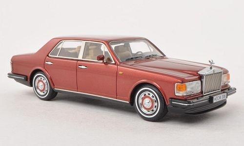 rolls-royce-plateado-espiritu-rojo-oscuro-met-lhd-limitado-edicion-300-pieza-1980-modelo-de-auto-mod