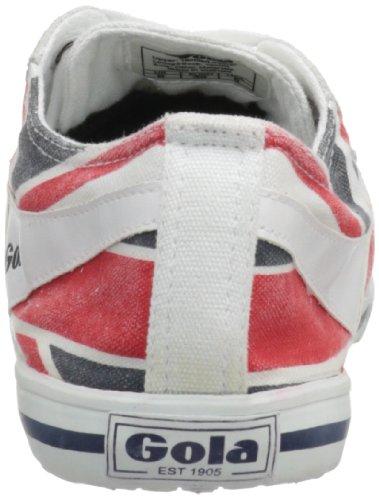 Gola Women's Quota Union Jack CLA460 UJ Fashion Sneaker,White/Navy/Red,7 M US