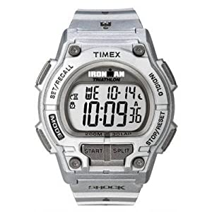 Timex T5K555 Unisex Ironman Silver Shock Watch
