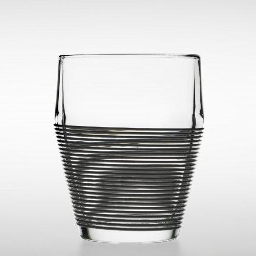 DesignHouseStockholm Timo Termo Glas, klar, Silikon schwarz 2 Stück 30 cl