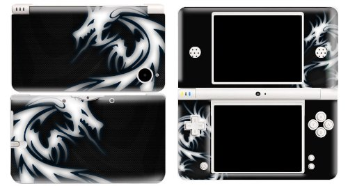 Bundle Monster Vinyl Skin Sticker For Nintendo DSi XL (LL) Handheld Game Console - Cover Protector Art Decal - Blue Dragon