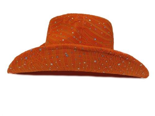 9f0f3c64c6e49 Glitter Sparkle Western Hats   Orange