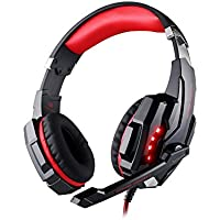 GuDenns PS4 PlayStation 4 Cellphone Stereo Gaming Headset With Adjustable Headband And Microphone Mic 3.5mm Audio...