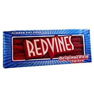 Red Vines Licorice Twists Original Red Classic 5 Ounce King Size Theater Pack 1 Tray