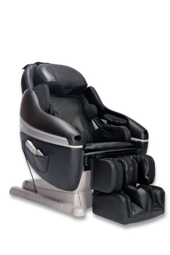 Inada Massage Chairs HCP-10001A(BKLEA) Sogno Dreamwave Massage Chair, Black Leather
